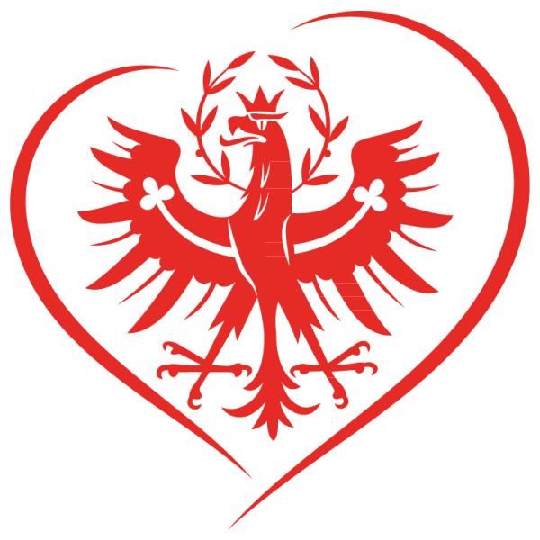 Tiroler Herz Autoaufkleber in Premium Autofolie