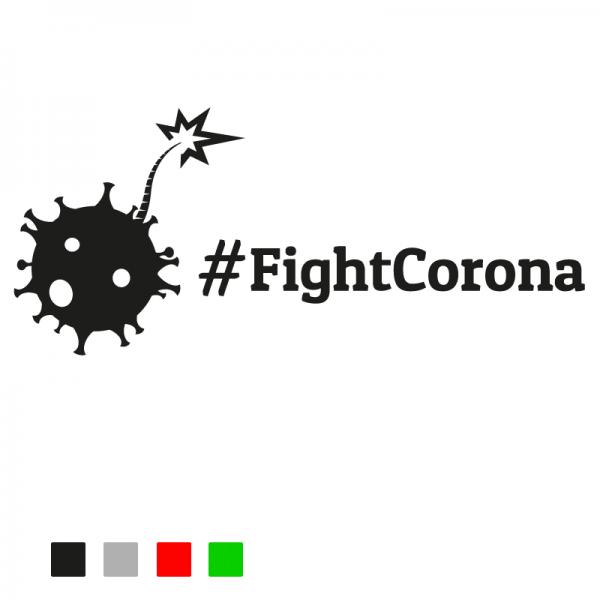 Fight Corona Autosticker konturgeschnitten aus Premiumautofolie