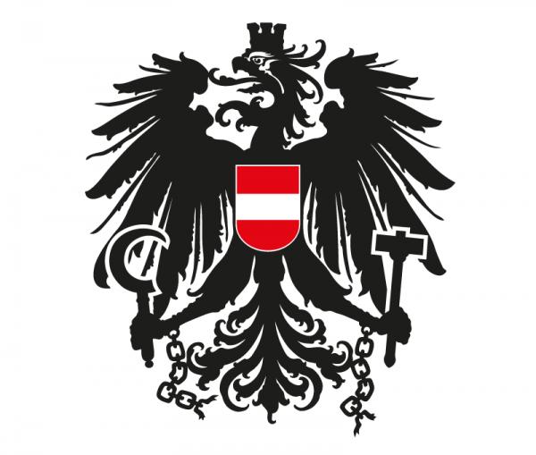 Autoaufkleber Österreich Wappen Adler schwarz - rot - weiß