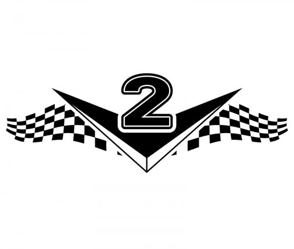 KFZ Aufkleber V2 Zweizylinder optional mit Wunschtext