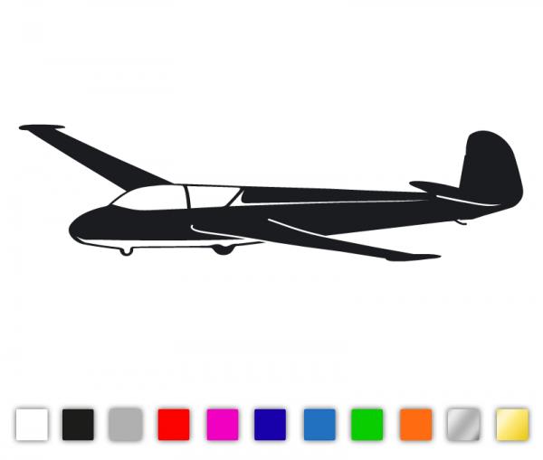 Autoaufkleber Segelflugzeug Kranich III konturgeschnitten aus Premiumautofolie