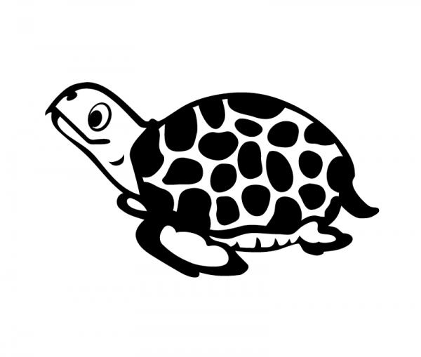 Schildkröte KFZ Aufkleber optional mit Wunschtext