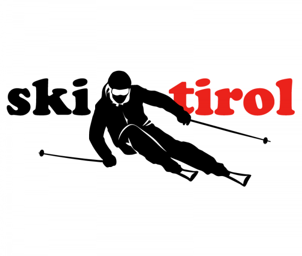 Tirol Ski Autoaufkleber konturgeschnitten Autofolie schwarz glänzend - rot glänzend