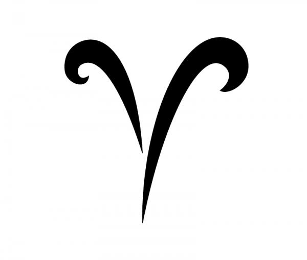 Aries / Widder KFZ Aufkleber Sternzeichensymbol