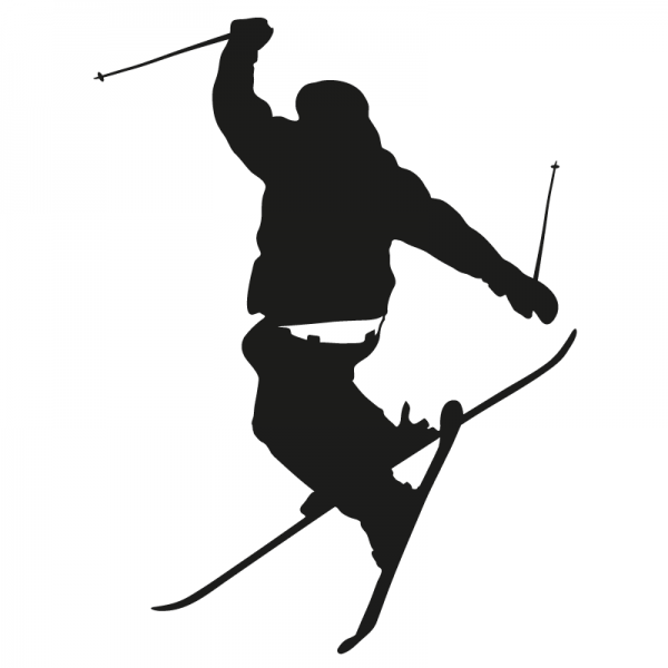 "Schifahrer ""ski alpin"" Auto Aufkleber konturgeschnitten aus Premium Autofolie"