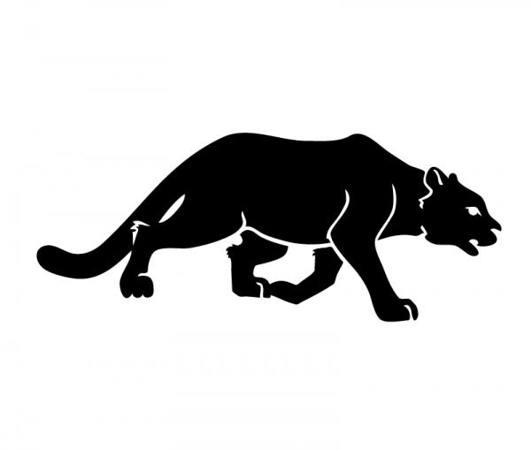 Panther KFZ Aufkleber optional mit Wunschtext