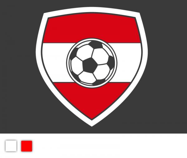 Autoaufkleber Fußball Nationalteam Österreich Edition 2-färbig konturgeschnitten in Premiumqualität