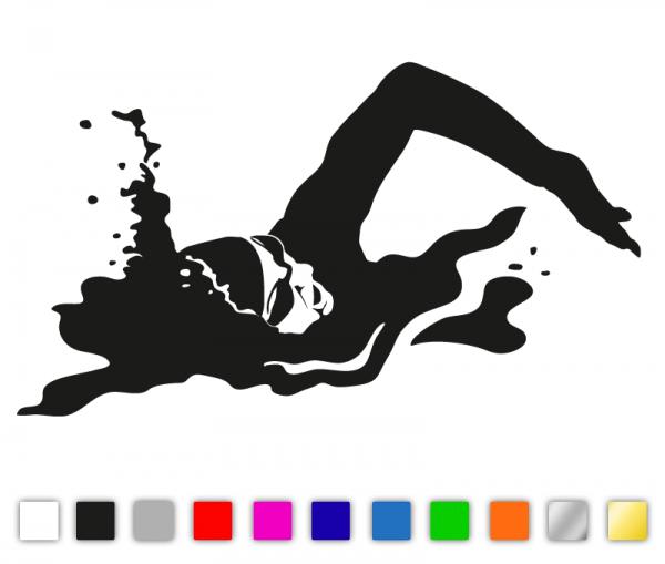KFZ Aufkleber Schwimmerin konturgeschnitten in vielen Farben