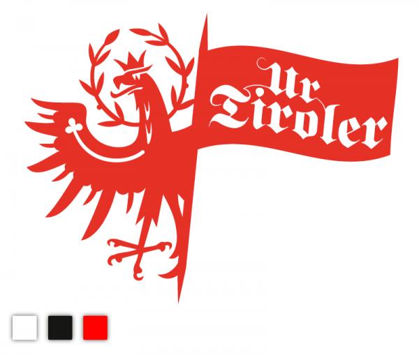 Ur-Tiroler mit Tiroler Adler Autosticker konturgeschnitten