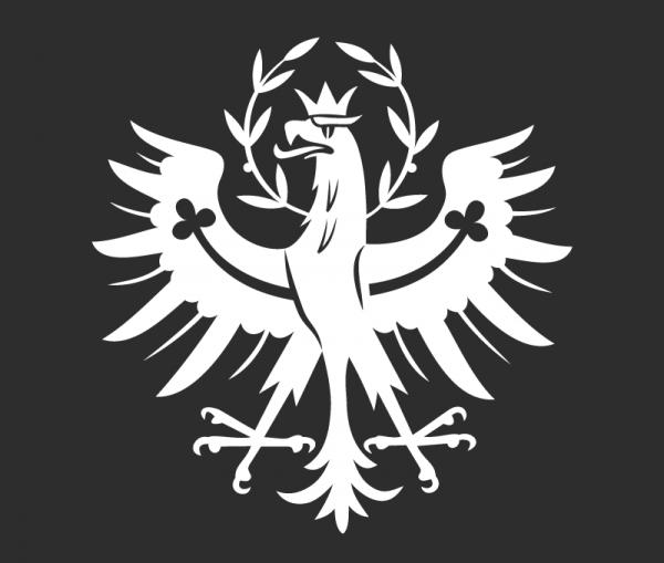 Autosticker Tirol mit Tiroler Adler 1-färbig weiß glänzend