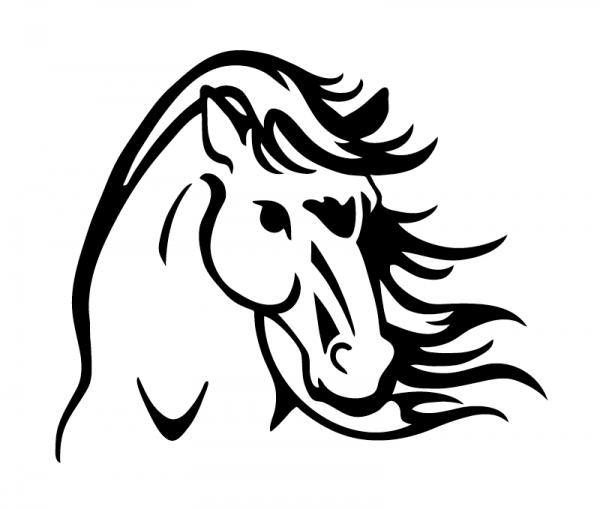 Pferdekopf Autosticker optional mit Wunschtext