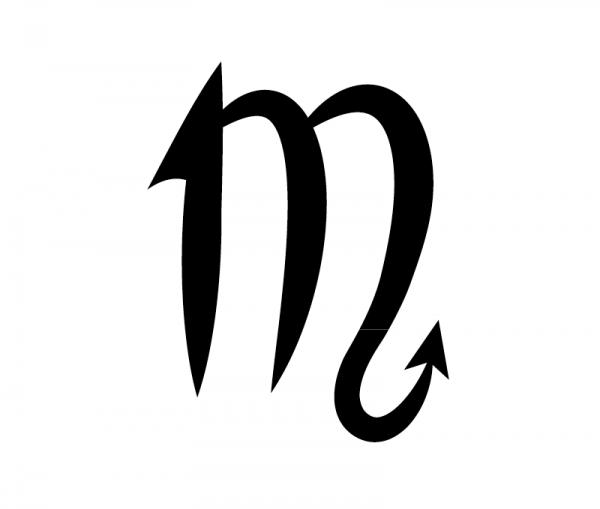 KFZ Aufkleber Sternzeichensymbol Scorpius / Skorpion