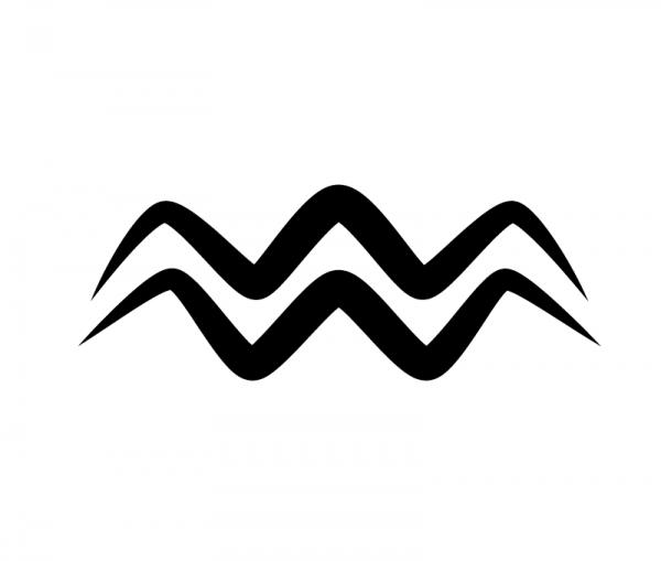 KFZ Aufkleber Sternzeichensymbol Aquarius / Wassermann