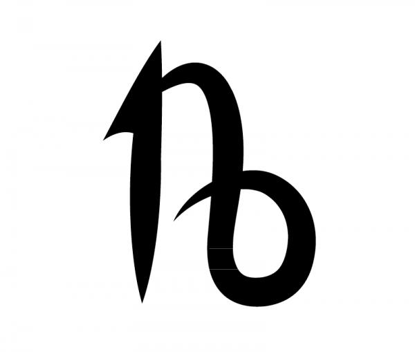 KFZ Aufkleber Sternzeichensymbol Capricornus / Steinbock