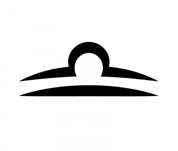 KFZ Aufkleber Sternzeichensymbol Libra / Waage