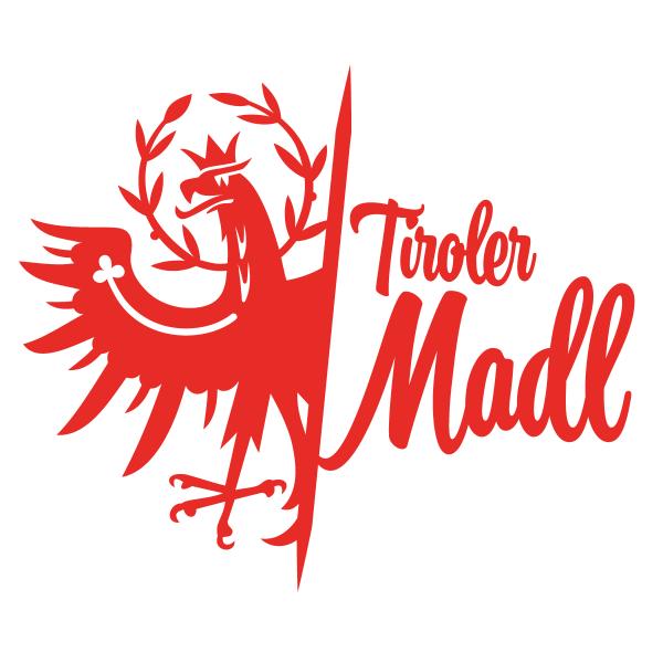 Tiroler Madl Tiroler Adler Autosticker konturgeschnitten
