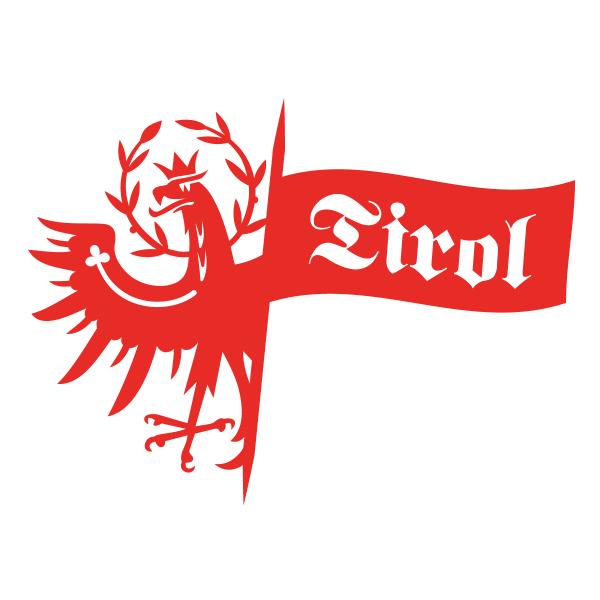 Tiroler Adler mit Flagge Autosticker konturgeschnitten
