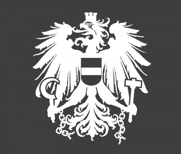 Autoaufkleber Österreich Wappen Adler weiß glänzend