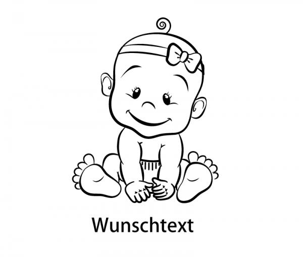 KFZ Aufkleber Baby Mädchen - Girl mit Wunschtext in vielen Farben