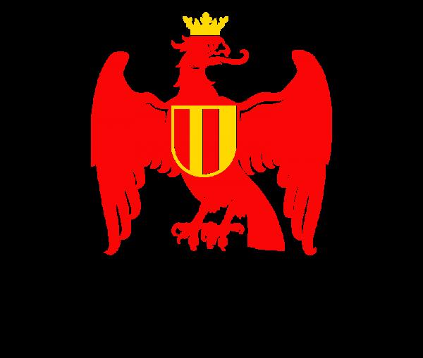 Burgenland Wappen Adler rot - gelb - schwarz