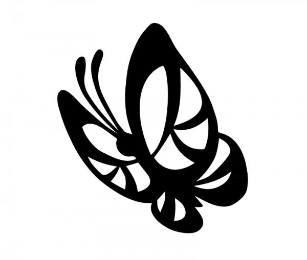 KFZ Aufkleber Schmetterling - Butterfly optional mit Wunschtext