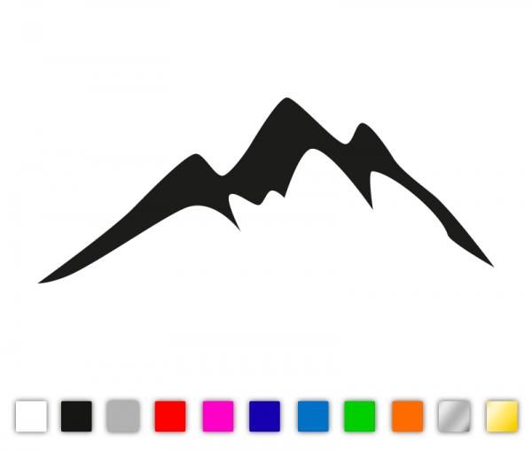 """Autoaufkleber """"Berge"""" mit Verkleberakel von Streetmission"""