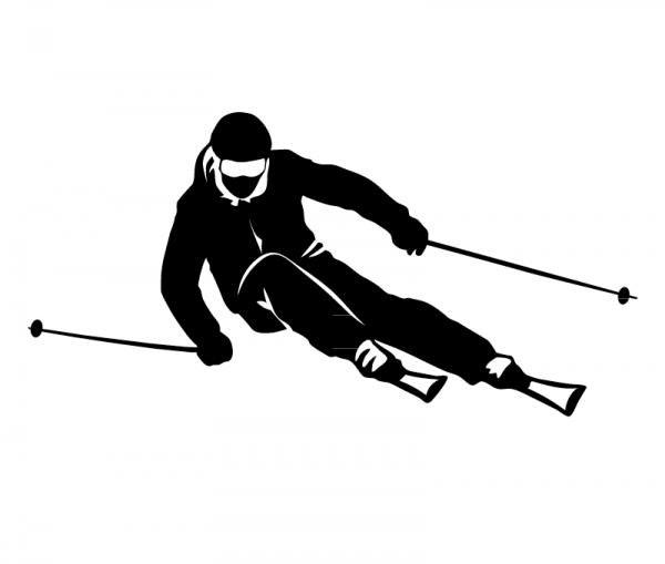 Autosticker Skifahrer in verschiedenen Farben und Größen konturgeschnitten aus Premium Autofolie