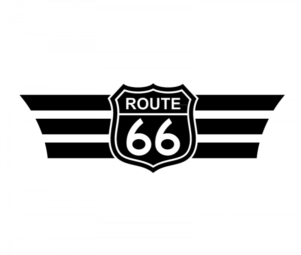 KFZ Aufkleber Route 66 optional mit Wunschtext