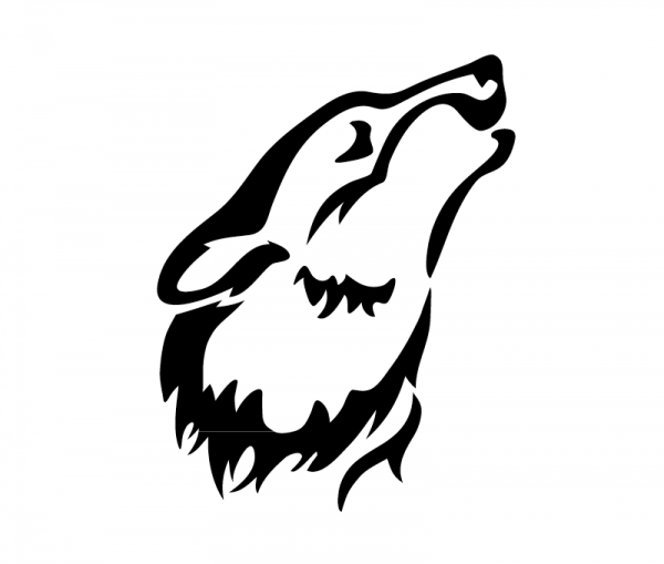 Wolf KFZ Aufkleber optional mit Wunschtext
