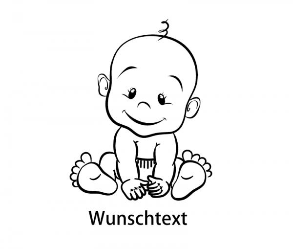 Baby Bub Autoaufkleber mit Wunschtext