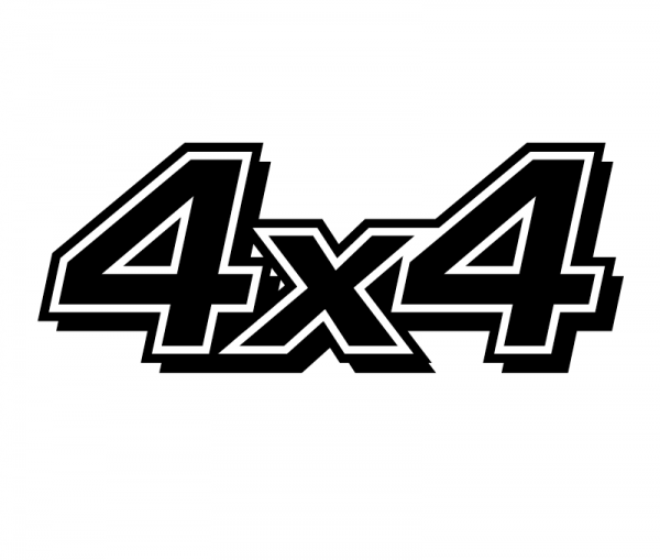 4x4 Autosticker aus Premium Autofolie