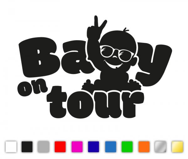 Baby on tour Premium Autosticker in vielen Farben