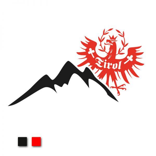 """Tiroler Berge"" Autoaufkleber"