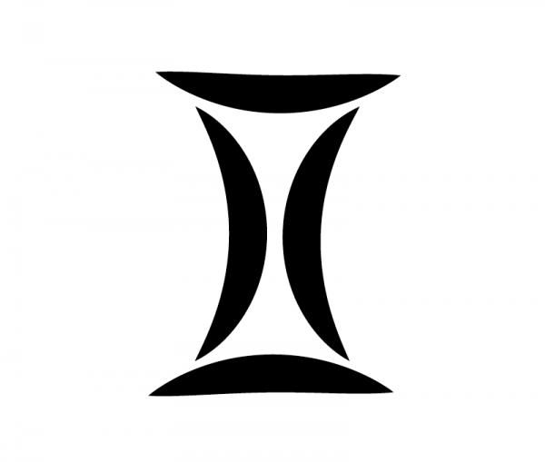 KFZ Aufkleber Sternzeichensymbol Gemini / Zwillinge