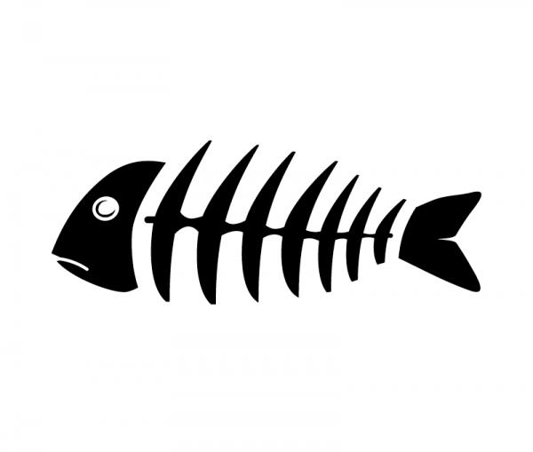 Fishbone KFZ Aufkleber in vielen Größen und Farben