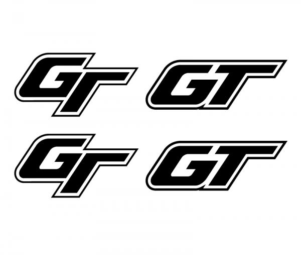 GT Aufkleber / Sticker Set konturgeschnitten in verschiedenen Folien-Farben