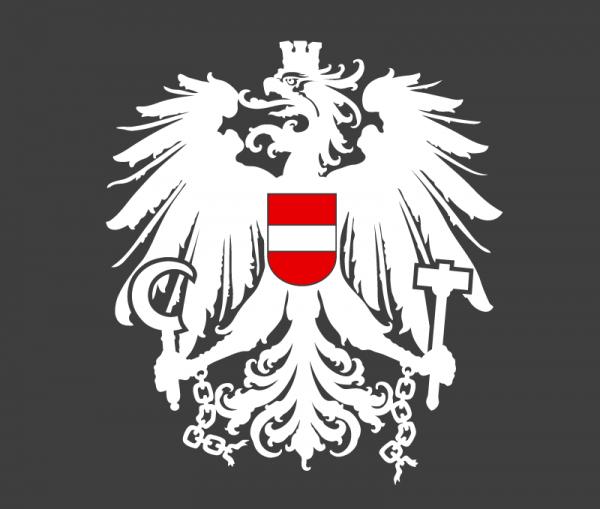 Autoaufkleber Österreich Wappen Adler weiß - rot - weiß
