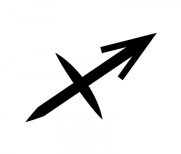 KFZ Aufkleber Sternzeichensymbol Sagittarius / Schütze
