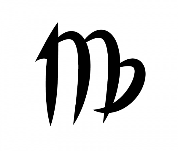 KFZ Aufkleber Sternzeichensymbol Virgo / Jungfrau