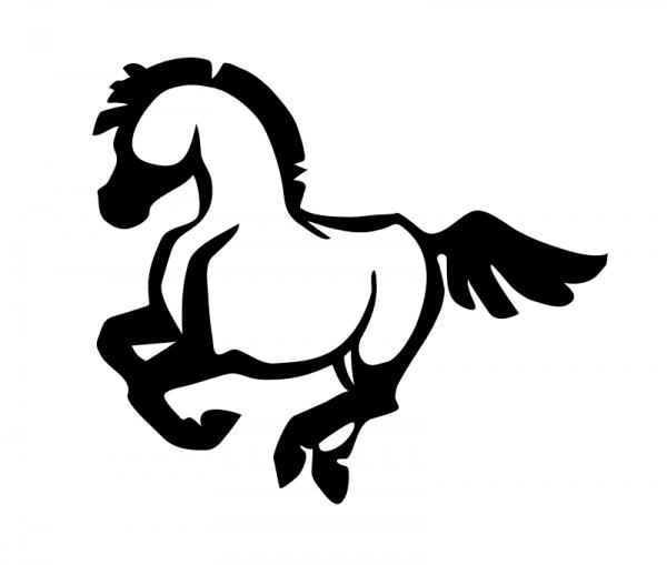 KFZ Aufkleber Pony optional mit Wunschtext