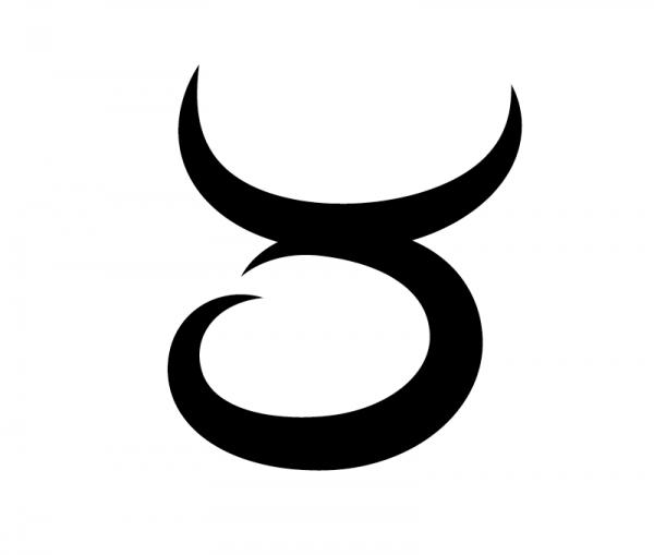 KFZ Aufkleber Sternzeichensymbol Taurus / Stier