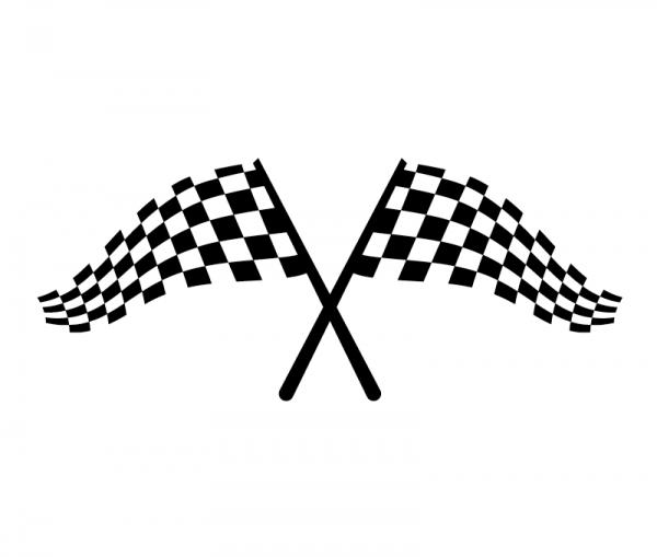 Zielflaggen Autoaufkleber in Premium Autofolie