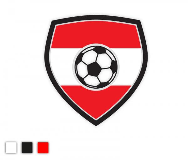 Autosticker Österreichisches Nationalteam Fußball Edition 3-färbig konturgeschnitten in Premiumqualität