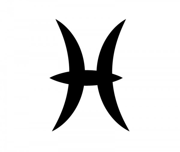 KFZ Aufkleber Sternzeichensymbol Pisces / Fische